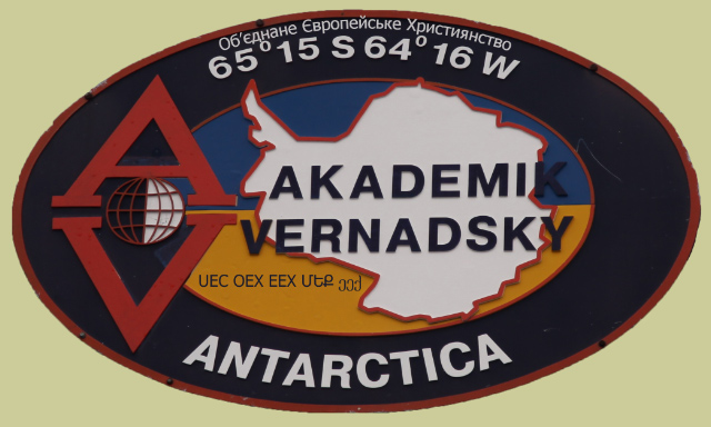 crest from Vernadsky Research Station Antarctica