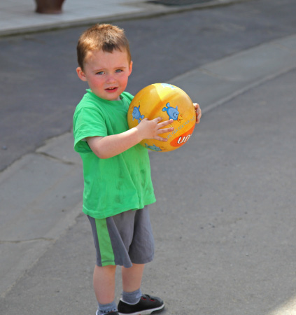 Boy with Ball in Belgium