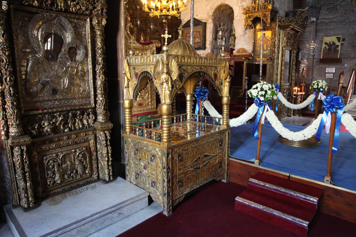 Reliquary of Saint Lazarus in Church to his honor in Kition - Larnaca