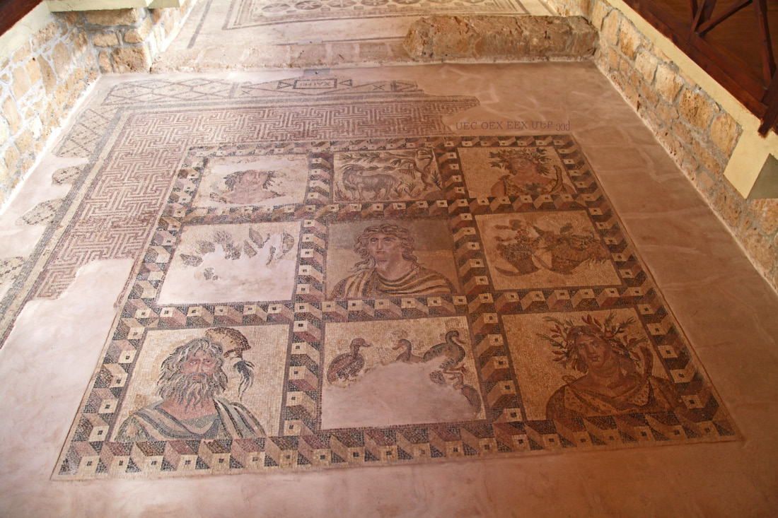 Four Seasons mosaic from Dionysos House in Pathos