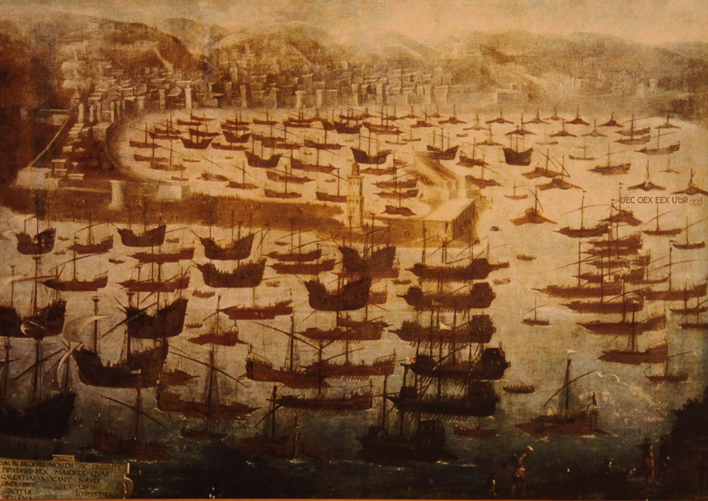 Christian Fleet from Messina by Cambiaso