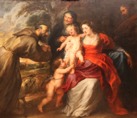 The Holy Family with Saints Francis and Anne and John the Baptist by Peter Paul Rubens