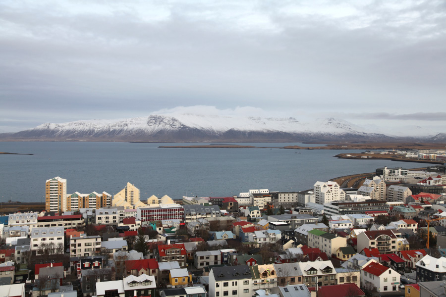 Reykjavík looking Northeast by north