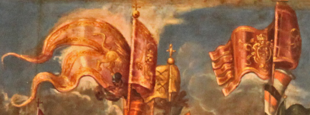 Christian flags over Lepanto by Vicentino