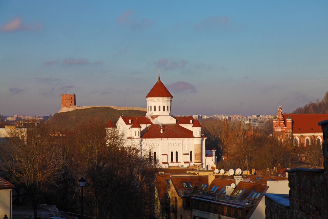 Gediminas Tower and Orthodox Cathedral of the Theotokos and Church of Saints Francis and Bernard