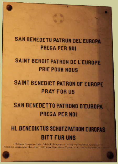 Saint Benedict Patron of Europe