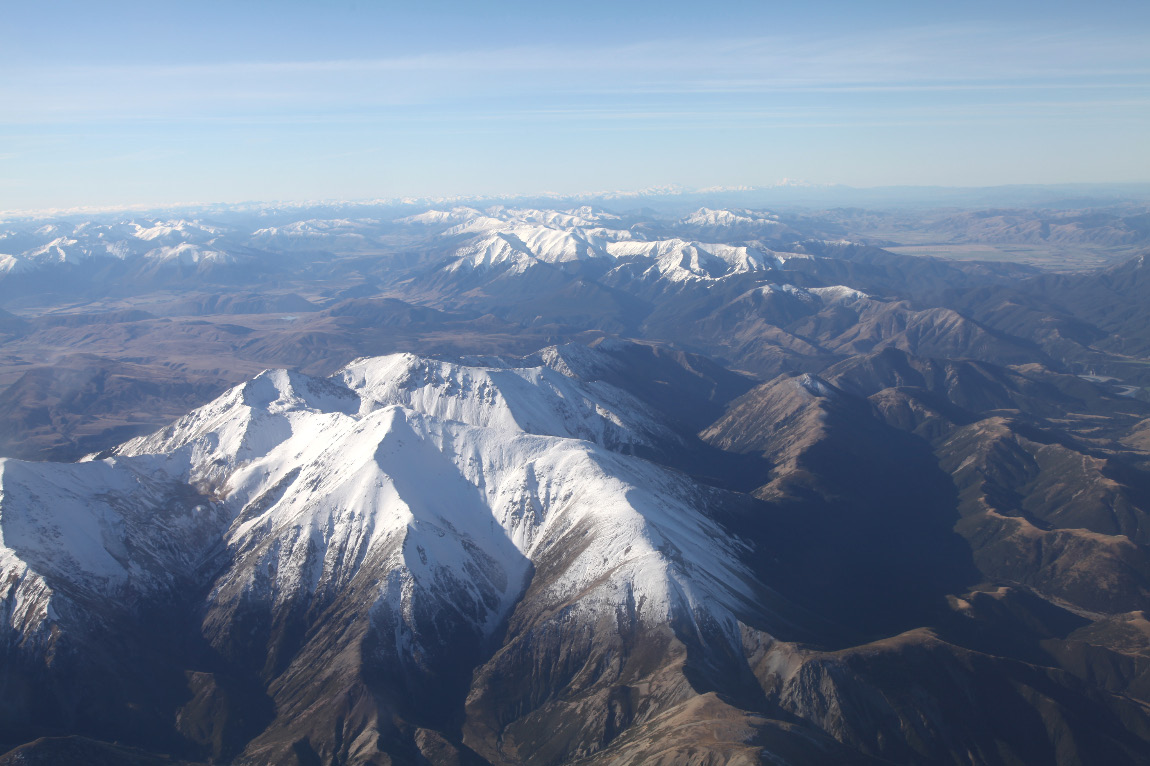 mountails of New Zealand's Southern Island on 8 May 2013