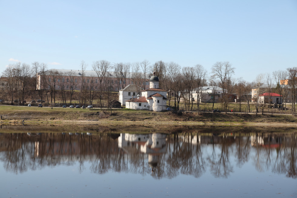 Church of Pope Saint Clement in Pskov and on the bank of the Velikaya River