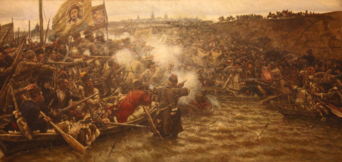 Conquest of Siberia by Yermak by Vasily Ivanovich Surikov
