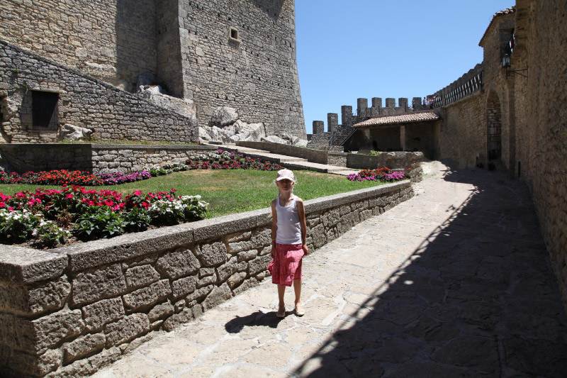 girl at castle