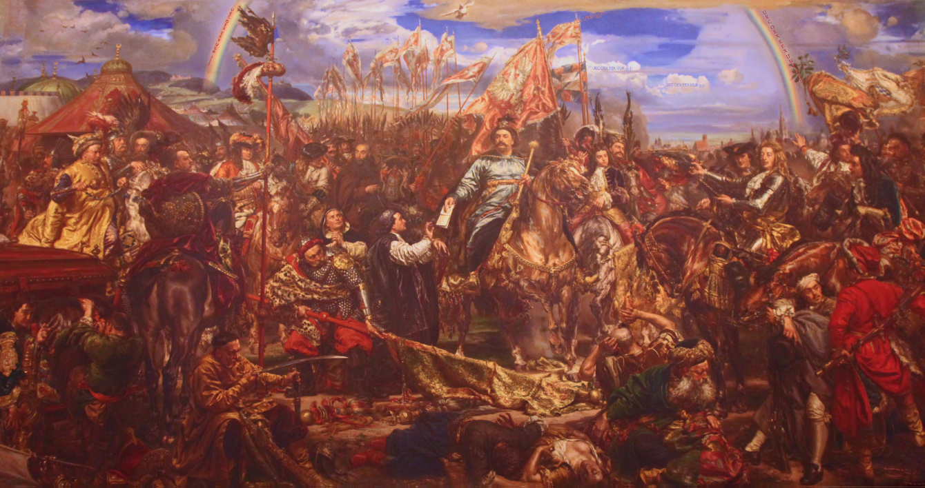 painting by Matejko in Vatican Museums of Jan III Sobieski sending Message of Victory to the Pope at the Battle of Kahlenberg-Vienna