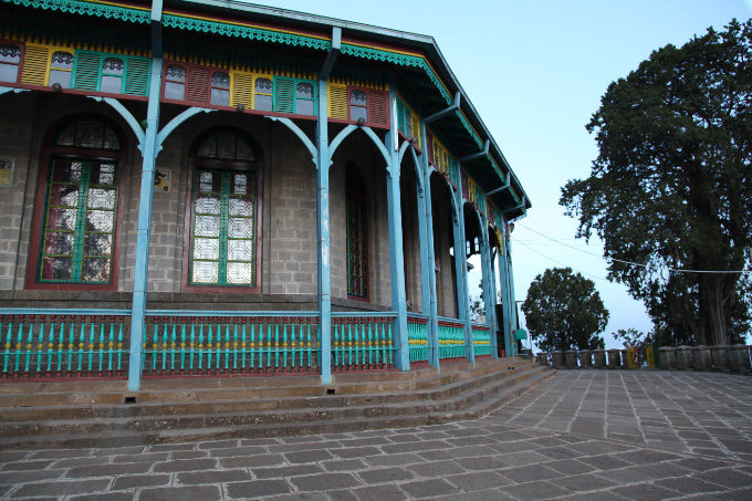 Church with balustrade in Addis Ababa