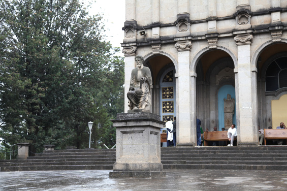 Saint Mark and his lion at the Holy Trinity Cathedral in Addis Ababa